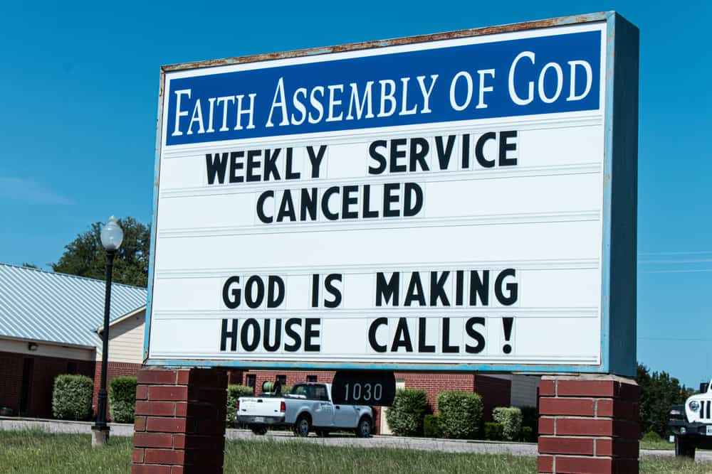 Does church closure really prove God doesn't exist?