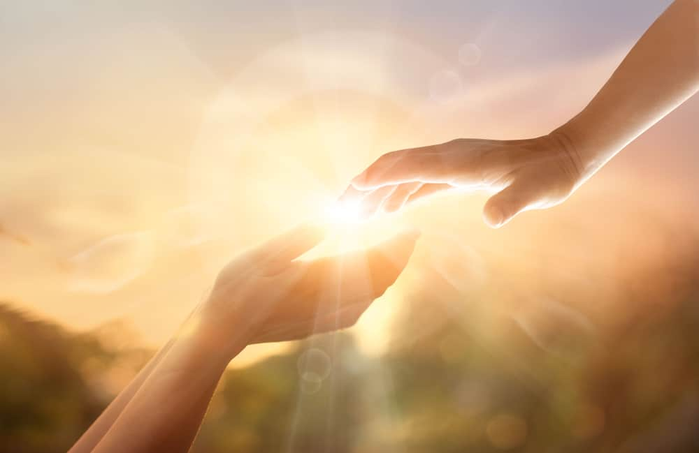 Bereavement: His hand is on yours in your loss