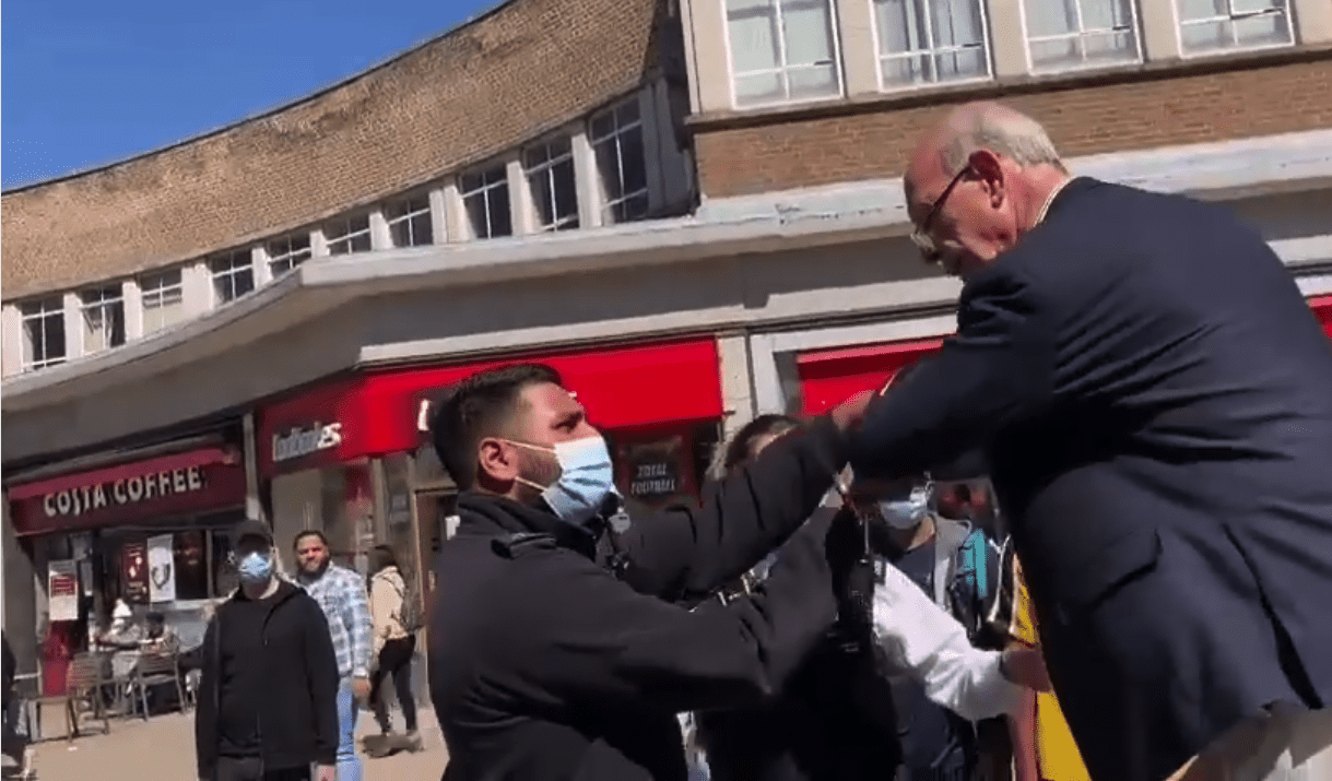 'Come down or we'll pull you down' – police warn street preacher (75) in shock arrest